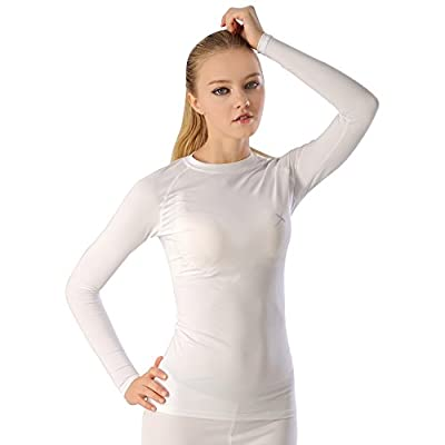 GearX Women's Summer Long Sleeve Mock Neck Compression Base Layer