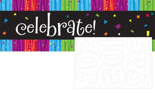Creative Converting Milestone Celebrations Giant Party Banner with Stickers