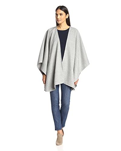 Alicia Adams Alpaca Women's Classic Cape, Light Grey