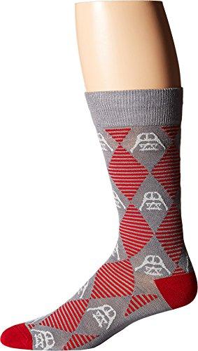 Cufflinks Inc. Men's Star Wars¿ Darth Vader Argyle Stripe Socks Gray Sock