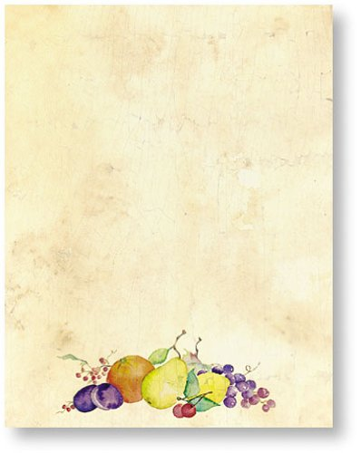 200 Crackled Fruit Letterhead Sheets
