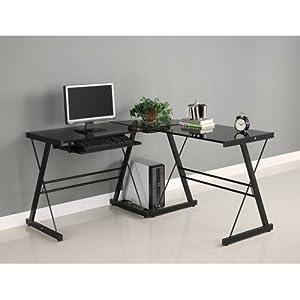 Walker Edison Soreno 3-Piece Corner Desk, Black