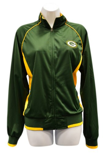 Green Bay Packers Women s Green Gold Sprint Track Jacket at the ... 1675713c9