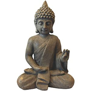 deko buddha sitzend h53cm dekofigur gartenfigur steinfigur. Black Bedroom Furniture Sets. Home Design Ideas