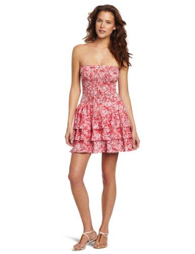 Ondademar Women's Tropicana Strapless Coverup Dress