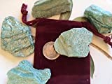 Single Stones: Fuschite Mica ~ 1 Large Rough Stone ~ 1 Inch Plus ~ Ravenz Roost Stones with Pouch