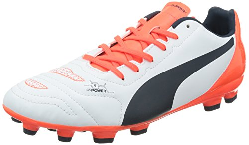 Puma - Evopower 4.2 Ag, Scarpe Da Calcio da uomo, bianco (white-total eclipse-lava blast 05), 44.5