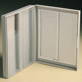 Fisherbrand Polypropylene Microscope Slide Boxes Polypropylene. Capacity: 100 Slides