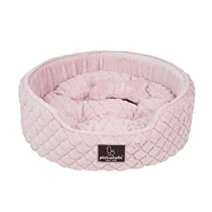 Pinkaholic New York Round Shaped Arctic Pet Bed, One Size, Indian Pink