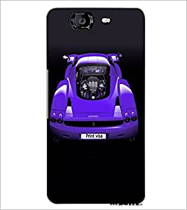 PrintDhaba Car D-4881 Back Case Cover for MICROMAX A350 CANVAS KNIGHT (Multi-Coloured)
