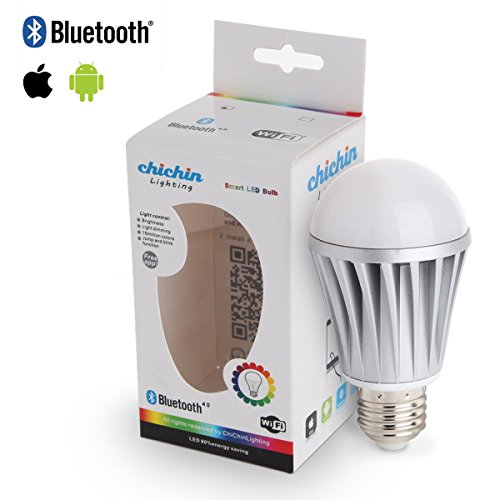 Chichinlighting® Bluetooth Wireless Control Multicolor Led Light Bulb - Great For Parties , Romantic Lighting And Gifts For Iphone Or Ipad Smart Control Of Your Lighting - E26 Medium Base - 110V 7W