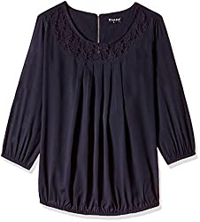 Harpa Women's Body Blouse Shirt (GR3158-NAVY_M)
