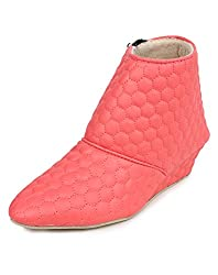 Beonza Womens Pink Suede Boots-39