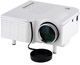 Vigrand mini portable LCD Multimedia Projector 32 Ansil Lumens for Music Photos Videos Compatible wi