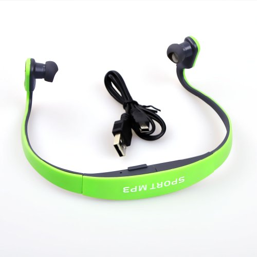 E-Prance New Wireless Sport Head Loop Music Mp3 Player Tf Card Slot Headphones Headset,Green