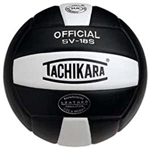 Buy Tachikara Performance Indoor Outdoor Institutional Composite Leather Volleyball (Black) - SV18S by Tachikara