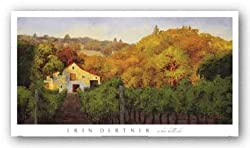 "Ochre Hillside by Erin Dertner 36""x18"" Art Print Poster"