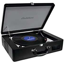 New Electrohome Eanos300 Premium Retro Suitcase Turntable