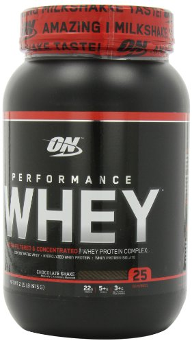 Optimum Nutrition Performance Whey Diet Supplements - 2.15 Lbs (Chocolate Shake)