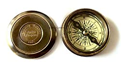 Artshai 2.5 inch Brass magnetic Compass with engraved poem,Unique gifting idea