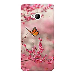 Mobile Back Cover For HTC Desire ONE M7 (Printed Designer Case)
