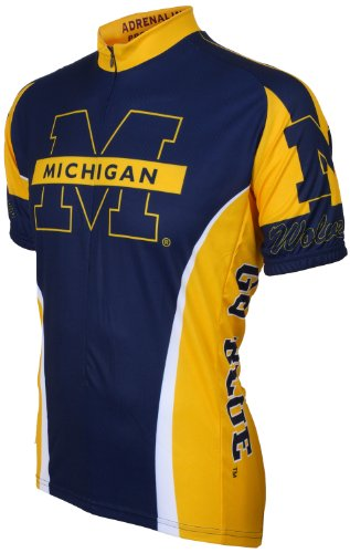 NCAA Michigan Cycling Jersey, Blue/Yellow, XX-Large