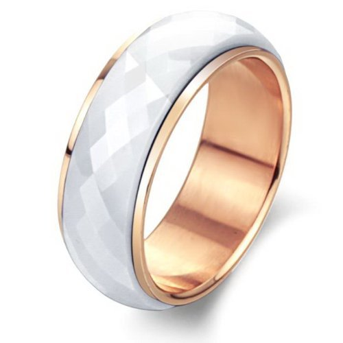 Hhbuy Jewelry Healthy Turnable Ceramic Rings Rose Gold Plated Inside Unique Rhombus Surface Hand Finger Ring,Purple