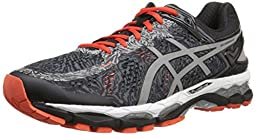 ASICS Men\'s Gel Kayano 22 Lite Show Running Shoe, Carbon/Silver/Cherry Tomato, 11 M US