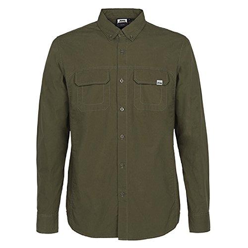 jeep-man-shirt-long-sleeves-w-pockets-chemise-a-manches-longues-dark-green-xxl