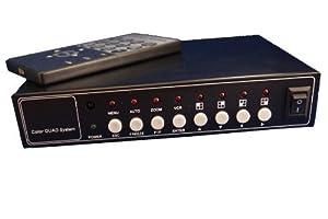 Evertech Office Home Video Security Camera Cctv Color Quad Splitter Processor 4 Channel (4 Camera)