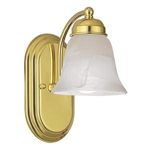 Portfolio polished brass vanity light bar vanity - Polished brass bathroom lighting fixtures ...