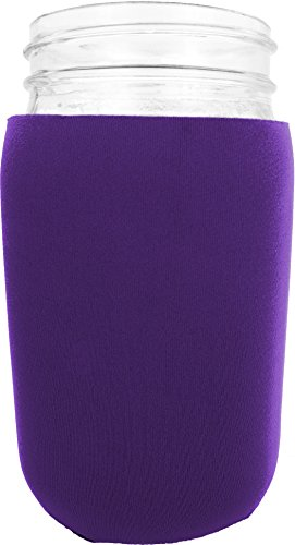 Jar-Z Mason Jar Jacket, 32 oz, Purple