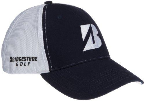 bridgestone-herren-satin-mesh-golf-cap-white