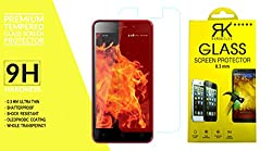 RKMOBILES Tempered Glass Screen Protector For Reliance Lyf Flame 1