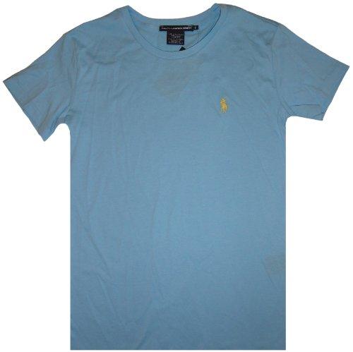 Ralph Lauren Sport Women'S Short Sleeve Shirt Pool Blue, Small