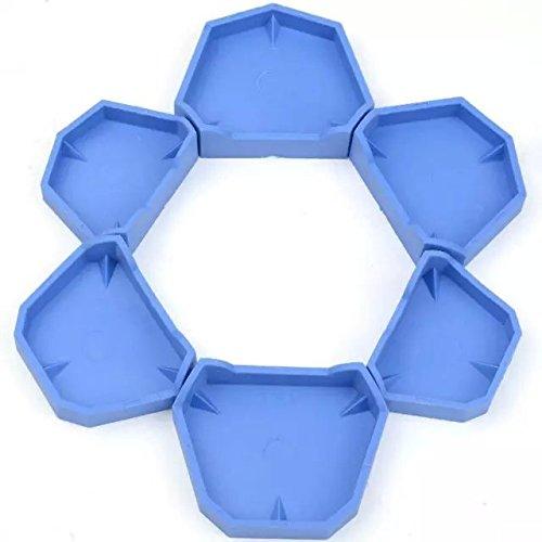 Bestdental Lab Model Former Base Molds Blue Color Two Types(1 Pack/6Pcs)