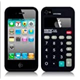 Calculator Silicone Case Cover for Apple iPhone 4 4G 4S Black ~ Generic