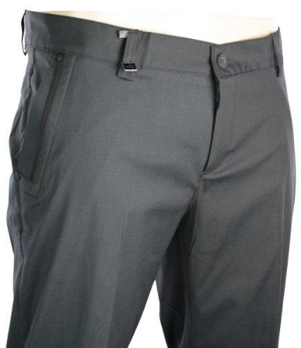 Mens Slim Fit Italian Style Trousers Navy Blue Black Design Smart