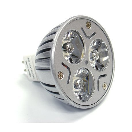 Toogoo(R) Mr16 3X1 Watt Led Spot Light Bulb 20W, White, For Track Light, Landscaping Halogen Replacement