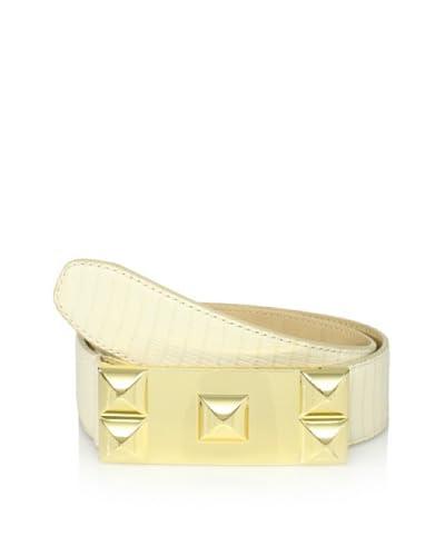 Vince Camuto Women's Stud Plaque Belt  [Cream]