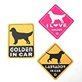 MM I Love My Golden Retriever Dog Car Stickers (3-Pack)
