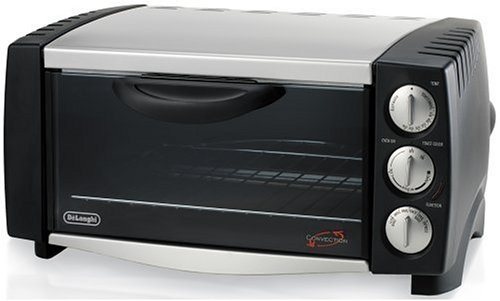 DeLonghi EO1251 6-Slice 1/2-Cubic-Foot Convection Oven, Black and Stainless Steel (Delonghi Small Oven compare prices)