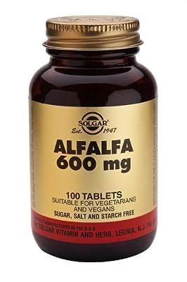 Solgar-Alfalfa 600 mg - 100 Tablets from Solgar Vitamins and Herbs