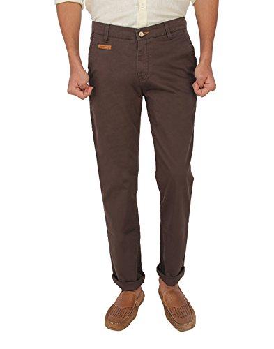 Red Flame Men's Brown Slim Fit Trouser - B0144971CC