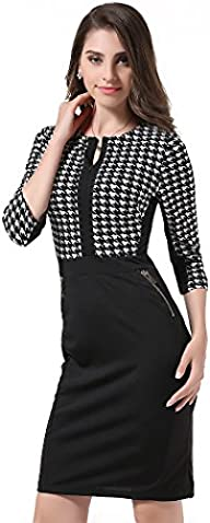 Totina Women Formal Houndstooth-Print…