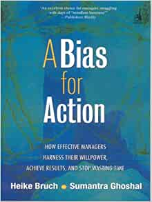 a bias for action We feel that bias toward action is a core principle or mindset of design thinking in the most basic sense, it means that we promote action-oriented behavior, rather than discussion based work why we see action (eg getting out and engaging users, prototyping & testing) as a way to get a group unstuck,.