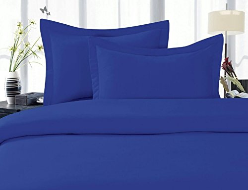 Elegant Comfort® 1500 Thread Count Wrinkle,Fade and Stain Resistant 4-Piece Bed Sheet set, Deep Pocket, HypoAllergenic - Full Royal Blue (Royal Blue Bed Sheets compare prices)