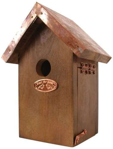 Esschert Design Wren Bird House - Antique Wash with Copper Roof