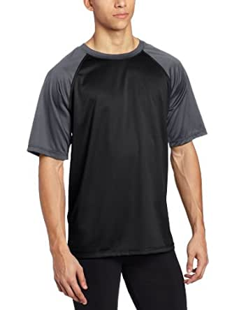 Kanu Surf Men's Contrast UPF 50+ Swim Tee, Black, Small
