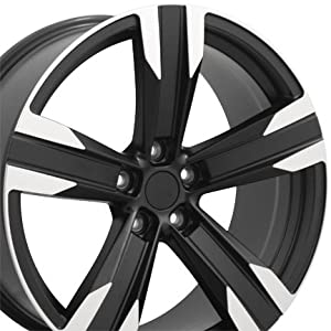 20″ Fits Chevrolet – Camaro ZL1 Style Replica Wheels – Matte Black Machined Face 20×9.5 / 20×8.5 SET